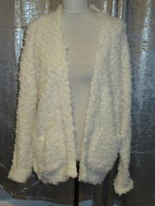 New look off white Fluffy Bobble Cardigan Bnwt Size M/L