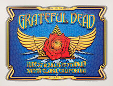 Grateful Dead Fare Thee Well Santa Clara CA Dave Hunter Poster Winged Rose 1st E