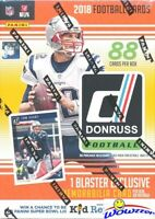 2018 Donruss Football EXCLUSIVE Factory Sealed Blaster Box-MEMORABILIA+11 ROOKIE