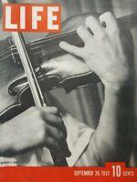 Life Magazine September 20 1937 Violinist Yehudi Menuhin Artist Doris Lee