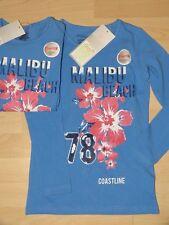 Kinder T-Shirt Mädchen Blau Langarmshirt Gr.128 Neu
