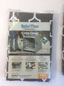 """Midwest Quiet Time Defender Stylish Brown Crate Cover for Dogs Pets, 30x19x21"""""""