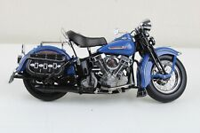 Franklin Mint Harley Davidson FL PAN HEAD 1948 Diecast Model 1:10 Scale Blue