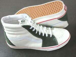 Vans Sk8-Hi Retro Sport Marshmallow White Kombu Green Skate shoes Size 11.5 NEW