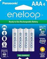 Panasonic Eneloop AAA (BK-4MCCA4BA) Ni-MH Rechargeable Batteries (4 Pack)