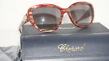 Chopard Sunglasses New Red Wood Marble Grey SCH147S 57 17 01GJ 135