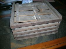 PRIMITIVE WOODEN  HUMPTY DUMPTY EGG CRATE CARRIER COMPLETE CUMMER MFG.1903