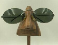 Vintage Polo Sport 1002/S XE5 Silver Metal Oval Sunglasses Eyeglasses Italy