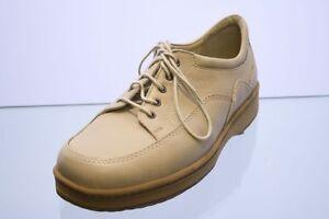 Natural Feet Schuhe beige Leder Wechselfußbett Gr. 38 (UK 5)