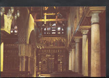 Egypt Postcard - Interior View of The Hanging Church, Cairo B3047