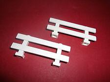 Lego (6079) 2 Zäune 1x8x2 2/3, in weiß aus 7635 7633 3189 7286 4204 4434 10674
