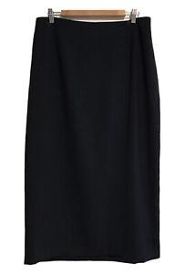 TARGET Size 16 Ladies Navy Blue, Wrap-Around Maxi Skirt (VGC)
