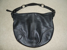 COACH Black Leather Hobo Purse, 3651, Bag, Tote, Excellent!!