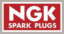 2 X RECTANGLE  NGK SPARK PLUGS STICKERS