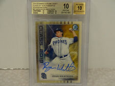 BGS 10 2018 Bowman Chrome Class of 2018 Ryan Weathers Auto SUPERFRACTOR #1/1