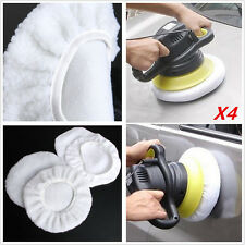 4XCar Wash Soft Wool Sponge Cover Bonnet Buffer Polishing Pad For 9&10' Polisher