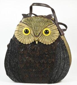 Lovely Owl Shaped Handbag ~ Long and Short Straps ~ Unused VGC