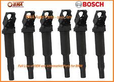 NEW OEM BOSCH BMW E46 E60 E85 E90 IGNITION COIL SET 6x 12137594937 / 0221504470