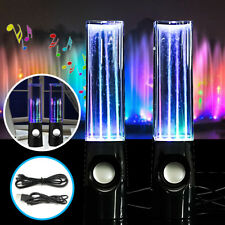 LED Dancing Water Show Music Fountain Light Speakers For Phones Laptop Computer