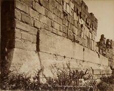 1 Photo F Bonfils Mur cyclopéen Baalbek  Baalbec Syrie Vintage albumen print