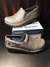 KLOGS Footwear Naples Silver Milli US Womens 8 Medium - New in Box