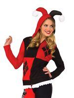 Harley Quinn Hoodie Officially Licenced Adult Cosplay Costume Sweatshirt Rubie's