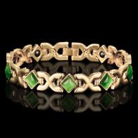 18k Gold Armkette Armreif Königskette Armband für Herren Damen 21cm vergoldet
