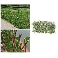 Erweiterbar Garten Screening Spalier Holz Zaun mit Künstliche Ivy Blätter