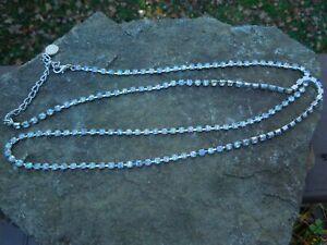 "Silver Tone Rhinestone Belt Belly Body Chain 38"""