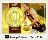 2015 AFL Champions Milestone Holofoil Card MG46 Jarryd Roughead (Hawthorn)