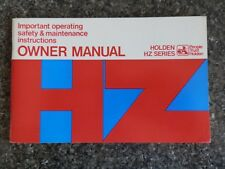 HOLDEN HZ OWNERS MANUAL.   100% GUARANTEE.