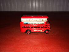 Vintage Lledo Promo Red & White London Transport Double Decker Bus