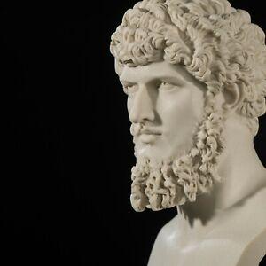 Lucius Verus Bust, Roman Emperor, Marble Sculpture, Art, Gift, Ornament.