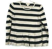 Banana Republic Womens Sweater Long Sleeve Stripe Design Cotton Size Large