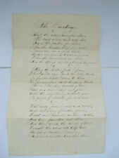 FAMOUS 1861 CIVIL WAR POEM ~ THE COUNTERSIGN ~ CAMP CAMERON ~ HARPERS MONTHLY