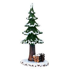 Hubrig  Winterkinder Winterbaum mit Holzstapel Erzgebirge echt Holz
