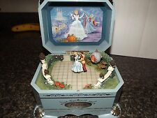 Rare Disney Cinderella'S Dance Music Box Rotating Mini Figures 1St Issue