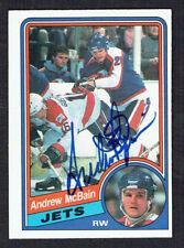 Andrew McBain #343 signed autograph auto 1984-85 O-Pee-Chee Hockey Card