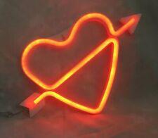 Heart & Arrow Neon Led Wall Light Decorative Of Love Led Cupid Heart Signs New