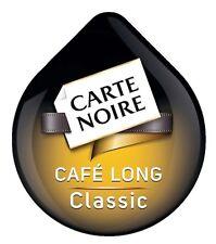 8 x Tassimo Carte Noire Café Long Classic T Disques Dosettes vendu en vrac 8 CAFE boissons