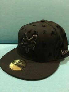 "New Era 59fifty ""Zoo York"" Flat Bill Hat Black Size 7 1/8"
