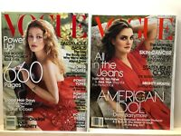 Vogue Magazine Drew Barrymore 2006 '08 lot of 2 issues Fashion Style Photography