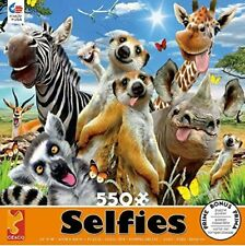 ANIMAL SELFIES - AFRICAN SUN - 550 PIECE JIGSAW PUZZLE - BRAND NEW - 2327-12