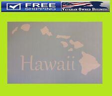 HAWAII HAWAIIAN ISLANDS MAP WINDOW VINYL DECAL STICKER CAR BUMPER LAPTOP CELL
