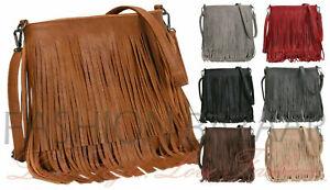 Women's Fringe Messenger Shoulder Tassel Bag Ladies Handbag Crossbody Bag