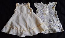Lot of 2 Infant Baby Girl Yellow Spring Easter Dress Size 12 Months