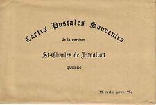 12 CARTES POSTALES DE L'ÉGLISE DE SAINT-CHARLES DE LIMOILOU (QUÉBEC).