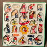 Vintage Handbemalter Weihnachtsschmuck Kein Spielzeug Wood Christmas Ornaments