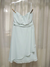 Alfred Angelo Bridesmaid Dress Prom Strapless or Straps Short Sage Green Size 12
