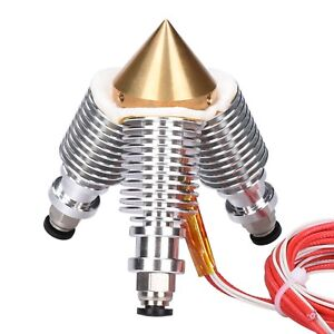 Brass Diamond Extruder Reprap Hotend 3D V6 Heatsink 3 IN 1 OUT Multi Nozzle Kit